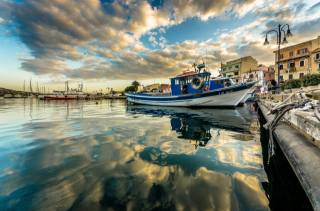 море, яхти, човни, вдома, небо, гавань