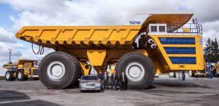 photo, dump truck, car, BelAZ, Belarus, giant, heavy equipment, 450 tons