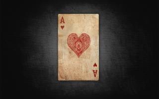 карта, туз, Червовый, сердце, Красный