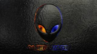 alienware logo grunge background, logo images, značka, Alienware, brand and logo