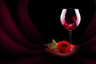 still life, Glass, drink, wine, flower, rose, fabric, blind