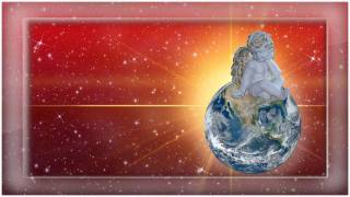 angel, ball, Earth, the sun, space, Christmas