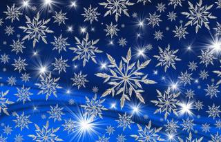 snowflakes, background, 3d