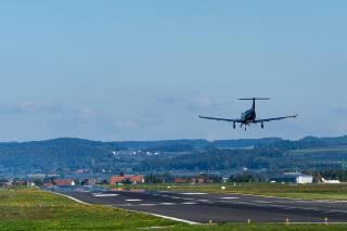 самолет, посадка, аэродром
