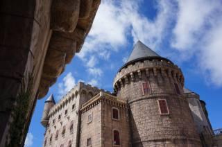 замок, фрагмент, небо