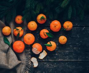фрукты, желтый, апельсины