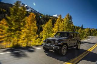 Jeep, car, autumn, mountains