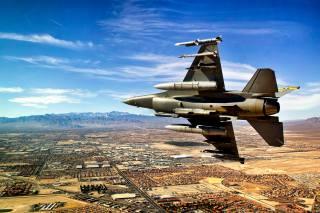 самолет, Истребитель, полёт, США, Невада