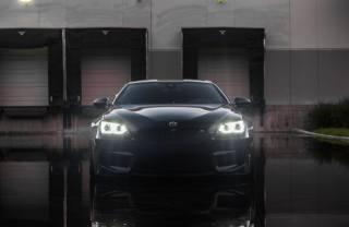 BMW, car, lights