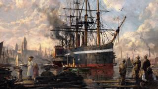 obraz, loď, retro