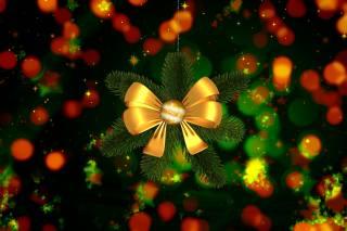 vánoční strom, luk, míč, pramínky, boke, Složení