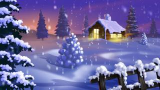ate, drifts, snow, the house, light, Christmas, New year
