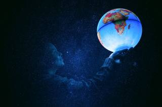 девочька, шар, космос, креатив