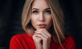 девушка, модель, блондинка, взгляд, Evgeny Freyer