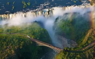 Африка, мост, водопад, природа