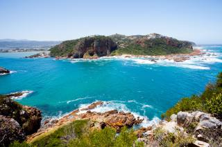 блакитна вода, скелі, затока, узбережжя, Африка