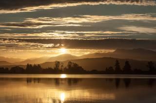 новая зеландия, пейзаж, закат, природа