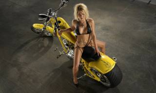 girl, the bike, tattoo, the dark background