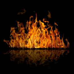 fire, the dark background