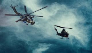helicopters, weapons, The mi-28N