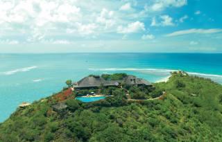 ráj, příroda, vila, palmové, oceán