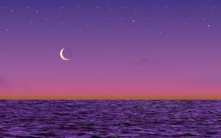 море, небо, місяць