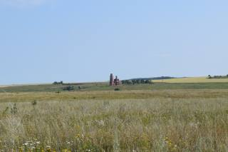 summer, the temple, field, distance