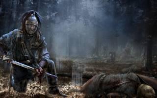 Attila, Total war, Rome 2, forest, Hunn, Гун, barbarian, body, fight