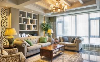 obývací pokoj, pohovka, polštář, svítidla