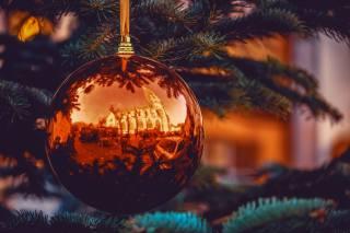 svátek, Nový rok, Vánoce, větvičky, smrk, vánoční strom, hračka, míč