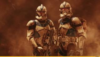 clones, star wars, weapons, troopers, helmet, armor, soldiers, desert
