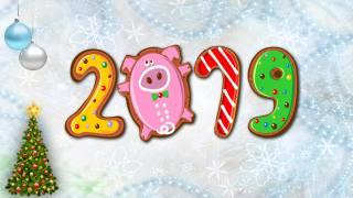 Новогодняя ель, Шары, фон, 2019