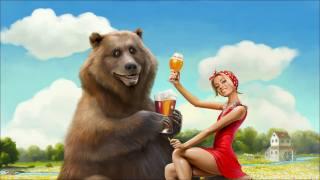 art, positive, bear, girl, beer