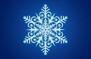 снежинка, фон, минимализм