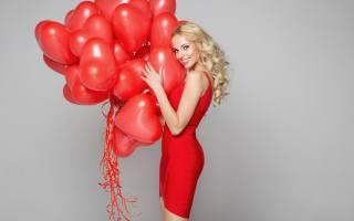 блондинка, счастливые, Красный, воздушные шарики