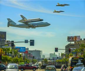 the Shuttle, airplanes, flight