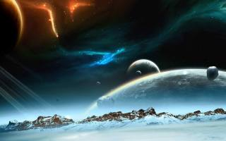 planet, space, earth, the atmosphere, the universe