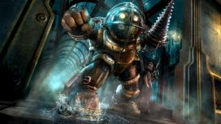 Big Daddy, bioshock, mythology, Little Sister, darkness, armour, computer