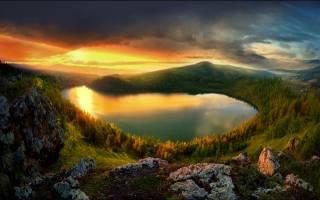природа, пейзаж, закат