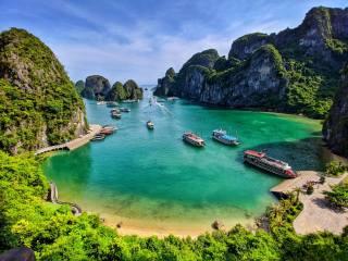 zátoka, Халонг, Halongbay, příroda, cestování