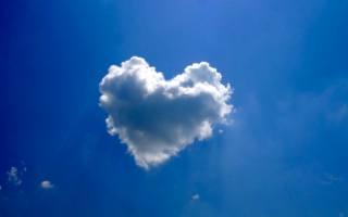 heart, the sky, the cloud