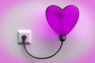 lamp, heart, light