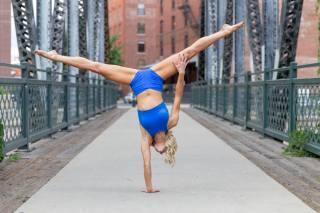 девушка, спорт, гимнастика