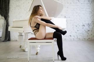 девушка, модель, позирует, Гюнтер Stoehr