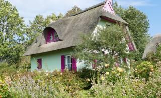 dům, vesnice, krajina