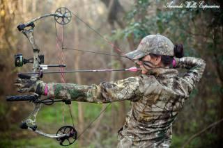 лук, стрелы, лучница, спорт