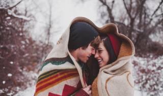 girl, guy, winter, mood, positive, Love