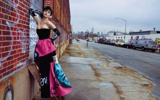 Katy Perry, singer, the city, street, music