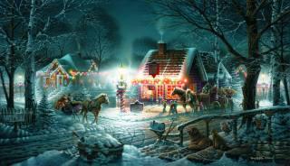 картина, Terry Redlin, праздник
