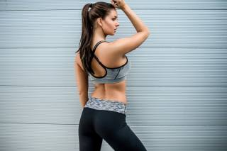Janna Breslin, yoga pants, fitness model